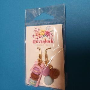 Cute handmade macaron earrings